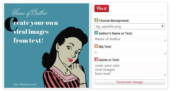 Quotes to Pin - Make Images From Text to Pinterest - CodeCanyon Item for Sale