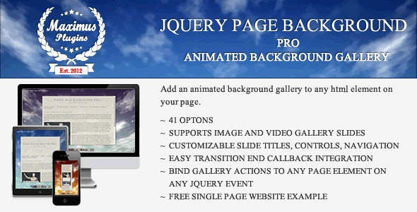 jQuery Page Background Pro - CodeCanyon Item for Sale