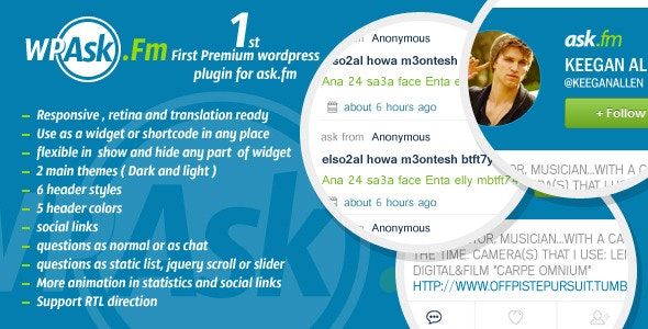 WP Ask.fm - WordPress Plugin - CodeCanyon Item for Sale