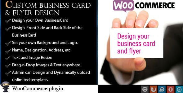 WooCommerce Business Card & Flyer Design