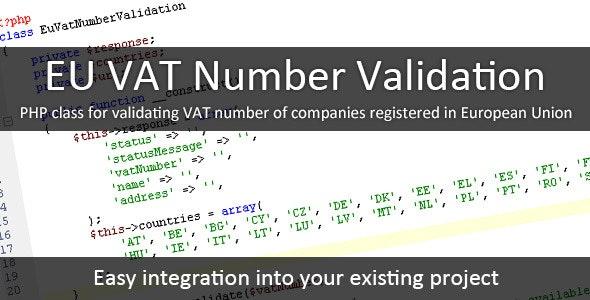 EU VAT Number Validation - CodeCanyon Item for Sale