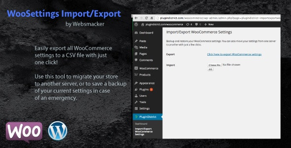 WooCommerce Settings Backup and Migration - CodeCanyon Item for Sale