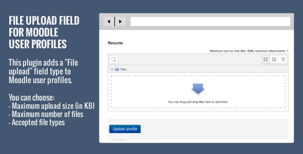File Upload Field for Moodle User Profiles