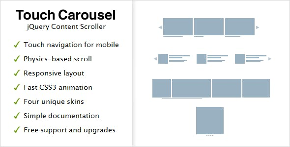 TouchCarousel - jQuery Content Scroller and Slider        Nulled