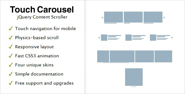 Touchcarousel Jquery Content Scroller And Slider By Semenov Codecanyon