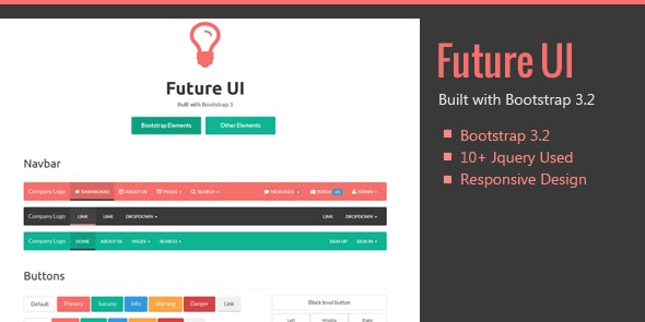 Future UI - Bootstrap 3 Skin - CodeCanyon Item for Sale