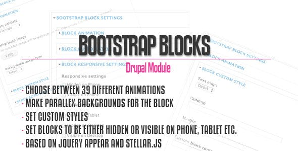 Bootstrap Blocks for Drupal