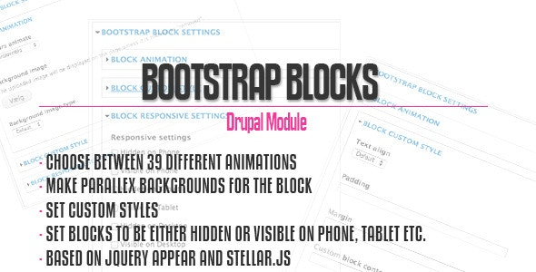 Bootstrap Blocks for Drupal - CodeCanyon Item for Sale