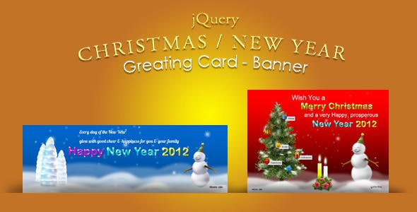jQuery Christmas, New Year Greeting card & Banner