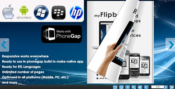 myFlip Book Mobile responsive - CodeCanyon Item for Sale
