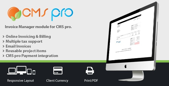 Invoicing Module for CMS pro - CodeCanyon Item for Sale