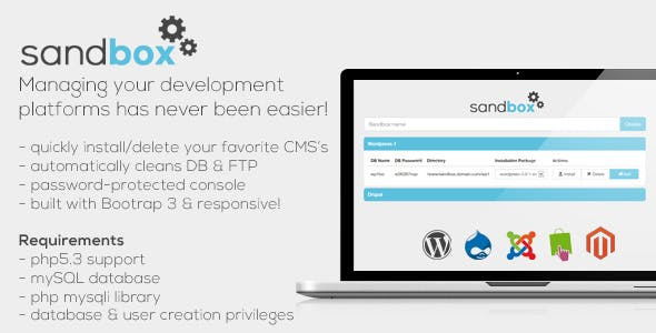 Sandbox - CMS Development Manager Web Tool