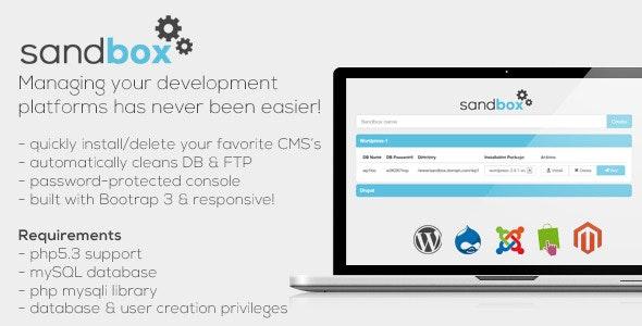 Sandbox - CMS Development Manager Web Tool - CodeCanyon Item for Sale