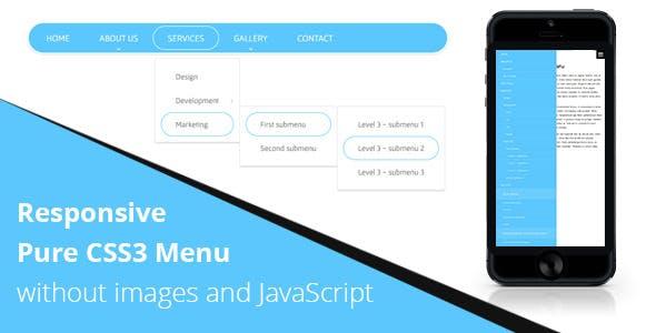 Responsive CSS3 Menu without JS