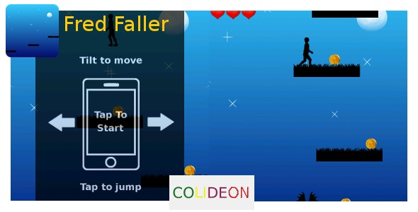 Fred Faller - iPhone game, Cocos2d - CodeCanyon Item for Sale