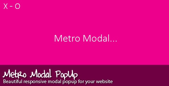 Metro Modal - CodeCanyon Item for Sale