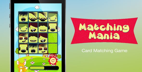 Matching Mania - Card Matching iOS Game