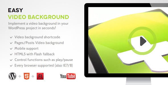 Easy Video Background WP        Nulled