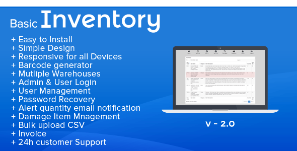 Basic Inventory - Stock Management and Invoice