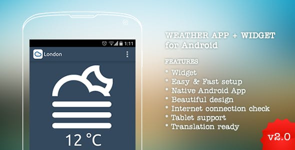 Weather App for Android v2.0
