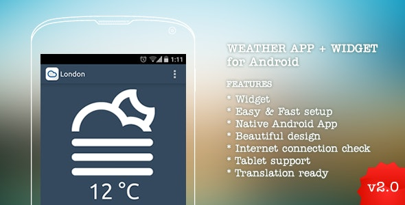 Weather App for Android v2.0 - CodeCanyon Item for Sale