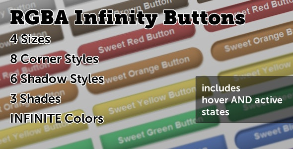 RGBA Infinity Buttons - CodeCanyon Item for Sale