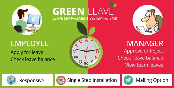 Green Leave - Leave Management System - CodeCanyon Item for Sale