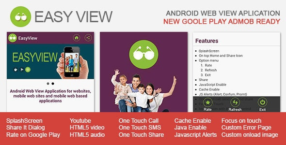 EasyView - Android WebView App - CodeCanyon Item for Sale