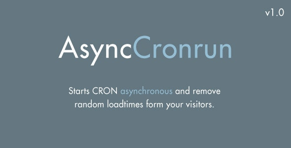 async_cronrun - CodeCanyon Item for Sale