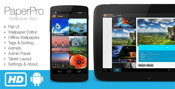 PaperPro - Rich Android Wallpaper App Template - CodeCanyon Item for Sale