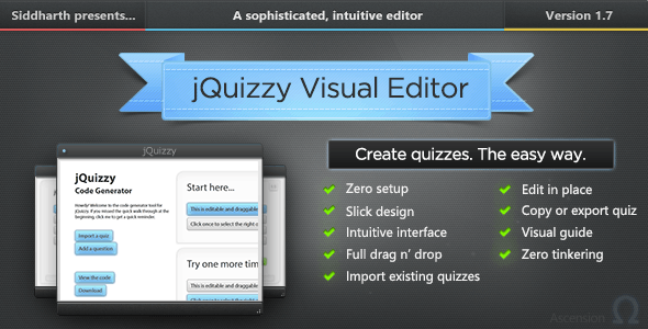 jQuizzy Classic - Interactive Visual Editor - CodeCanyon Item for Sale
