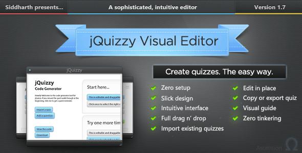 jQuizzy Classic - Interactive Visual Editor