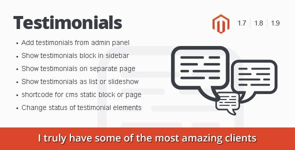Magento Testimonials - CodeCanyon Item for Sale