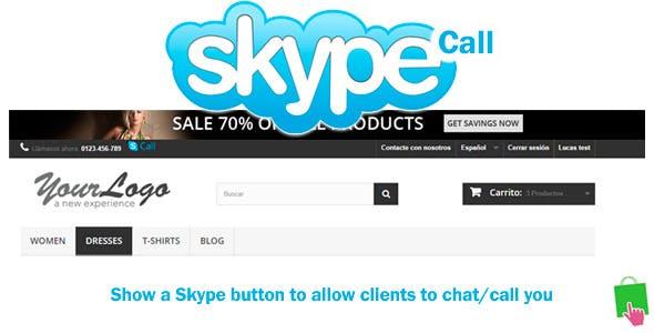 Prestashop Skype Call Button