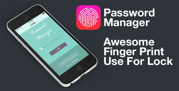 Finger Print - Touch ID - Password Manager V 1.3 - iOS 9
