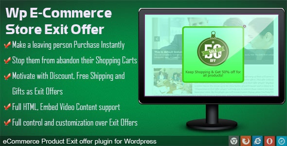 Exit Offer for WP eCommerce - CodeCanyon Item for Sale