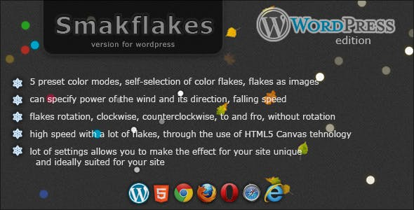 Smakflakes - various flakes for WordPress