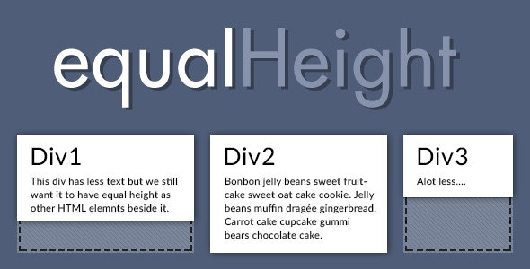 jQuery - equalHeight - CodeCanyon Item for Sale