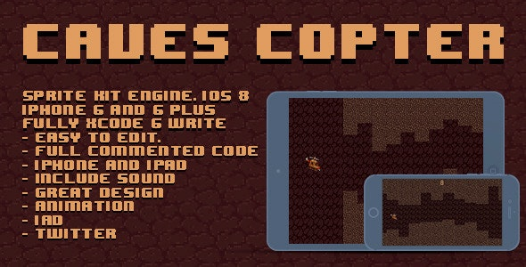 Caves Copter - CodeCanyon Item for Sale