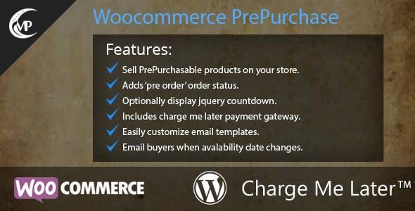 WooCommerce PrePurchase
