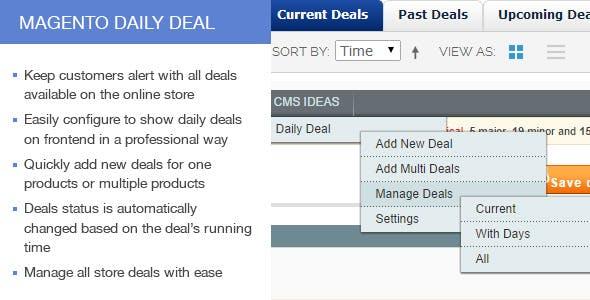 Magento Daily Deals