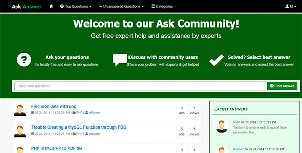 Ask & Answer - Community Script by -uMarian- | CodeCanyon