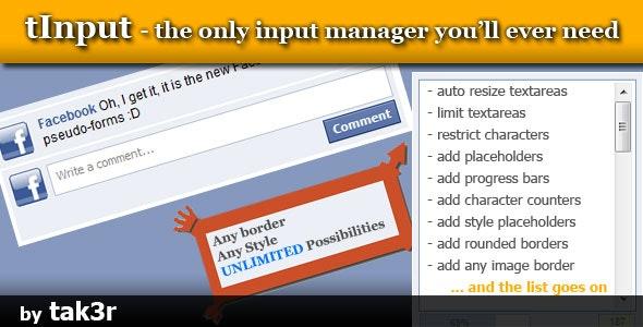 Input and Textarea customizer - tInput - CodeCanyon Item for Sale
