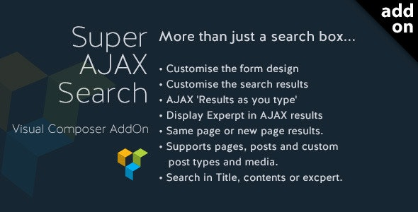 Super AJAX Search Element - CodeCanyon Item for Sale