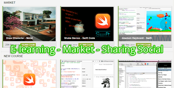 E-learning, Market, Sharing Social System