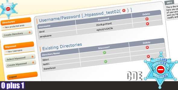 Client Directory Enforcer - Easy htaccess/htpasswd - CodeCanyon Item for Sale