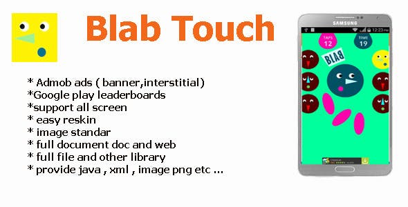 Blab Touch with Admob + Leaderboards + share and r