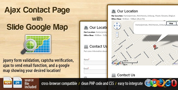 Ajax Contact Page with Google Map - CodeCanyon Item for Sale