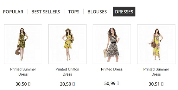 Prestashop 1.6 Module: Display Multiple Category Tabs in Home page next to New Arrival, Popular - CodeCanyon Item for Sale