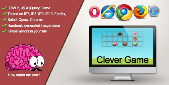Clever Game - How smart are you? - CodeCanyon Item for Sale